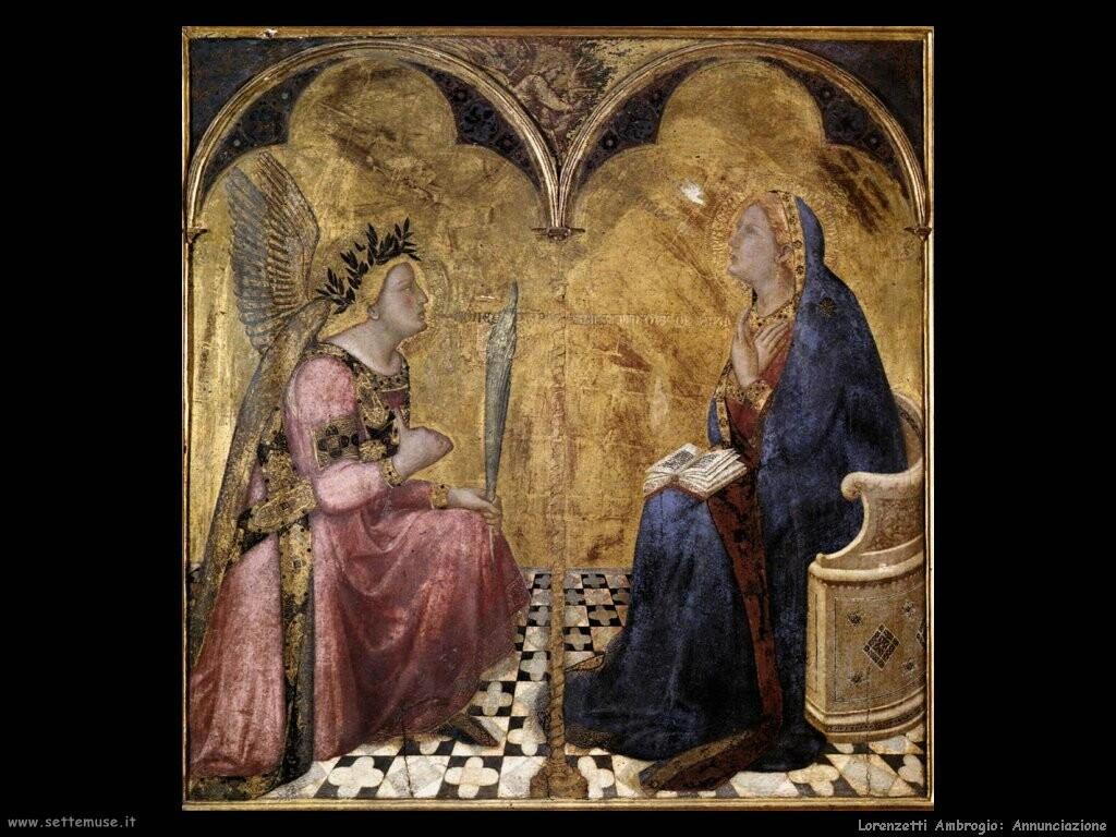 lorenzetti ambrogio Annunciazione