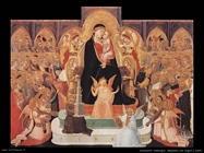 lorenzetti ambrogio  Madonna con angeli e santi