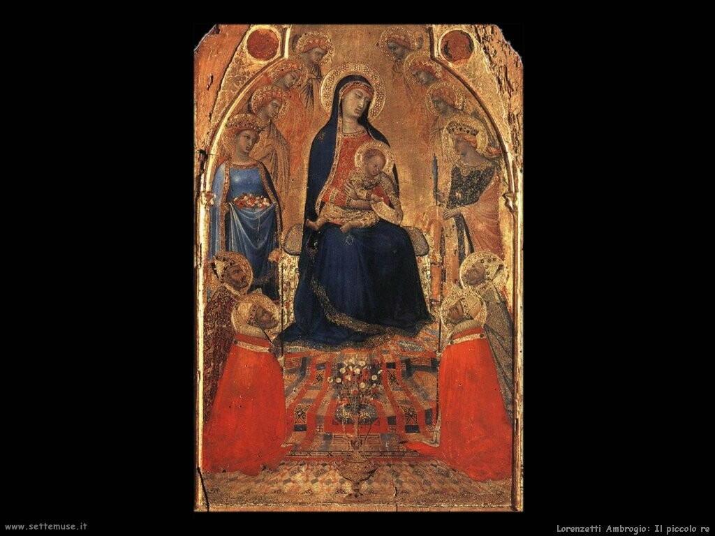 lorenzetti ambrogio Piccola maestà