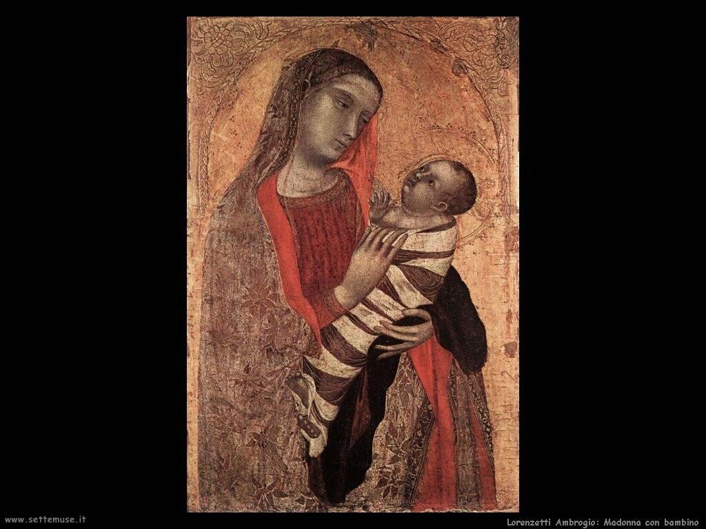 lorenzetti ambrogio Madonna con bambino