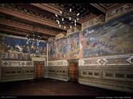 lorenzetti_ambrogio  Vista della sala degli affreschi