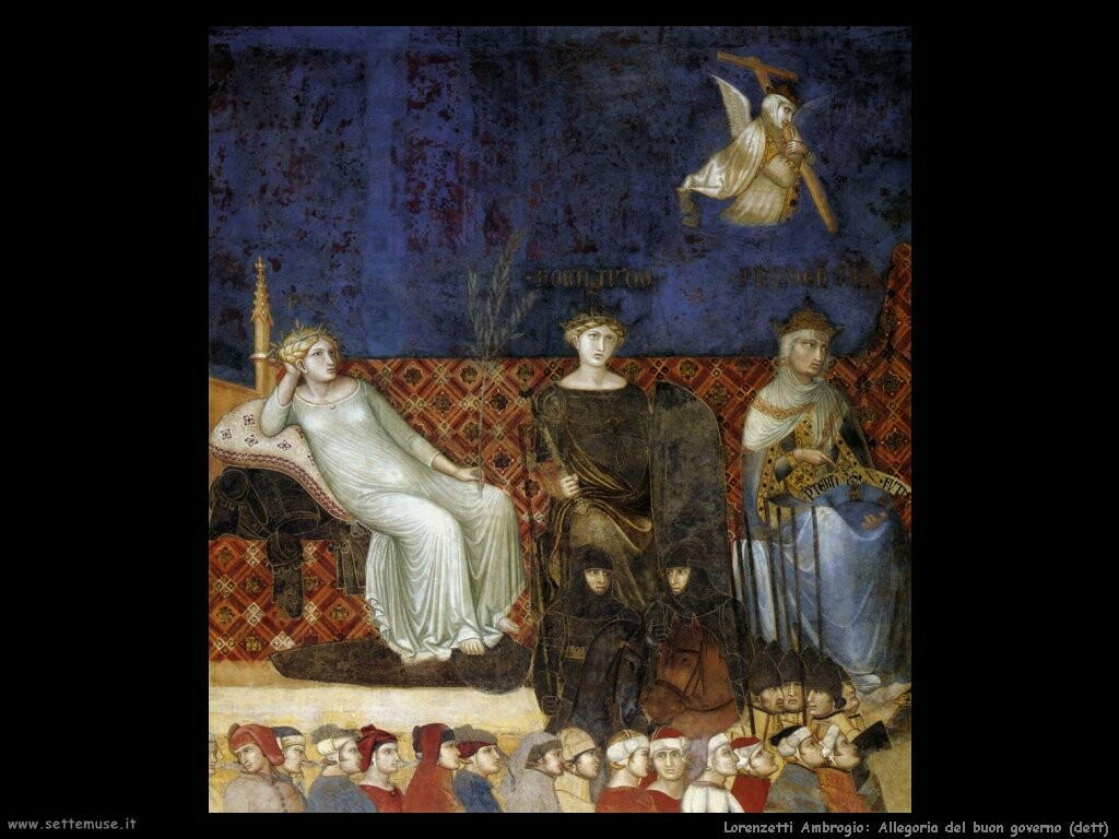 lorenzetti ambrogio  Allegoria del buon governo (dett)