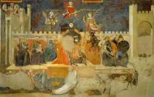 Affresco di Lorenzetti Ambrogio