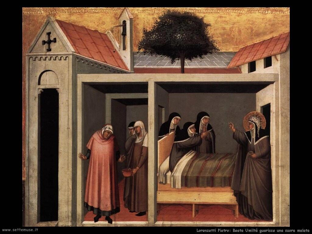 lorenzetti pietro  Beata Umiltà cura una suora malata