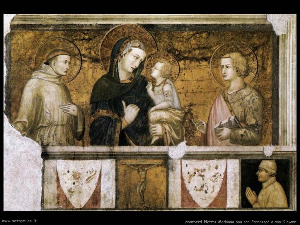 lorenzetti pietro  Madonna con san Francesco e san Giovanni