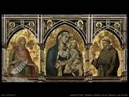 lorenzetti pietro Madonna e bambino con san Francesco