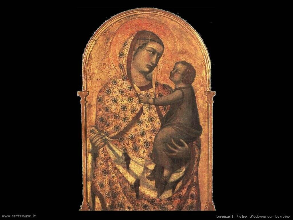 lorenzetti pietro Madonna e bambino