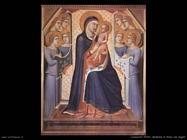 lorenzetti pietro  Madonna in trono con angeli