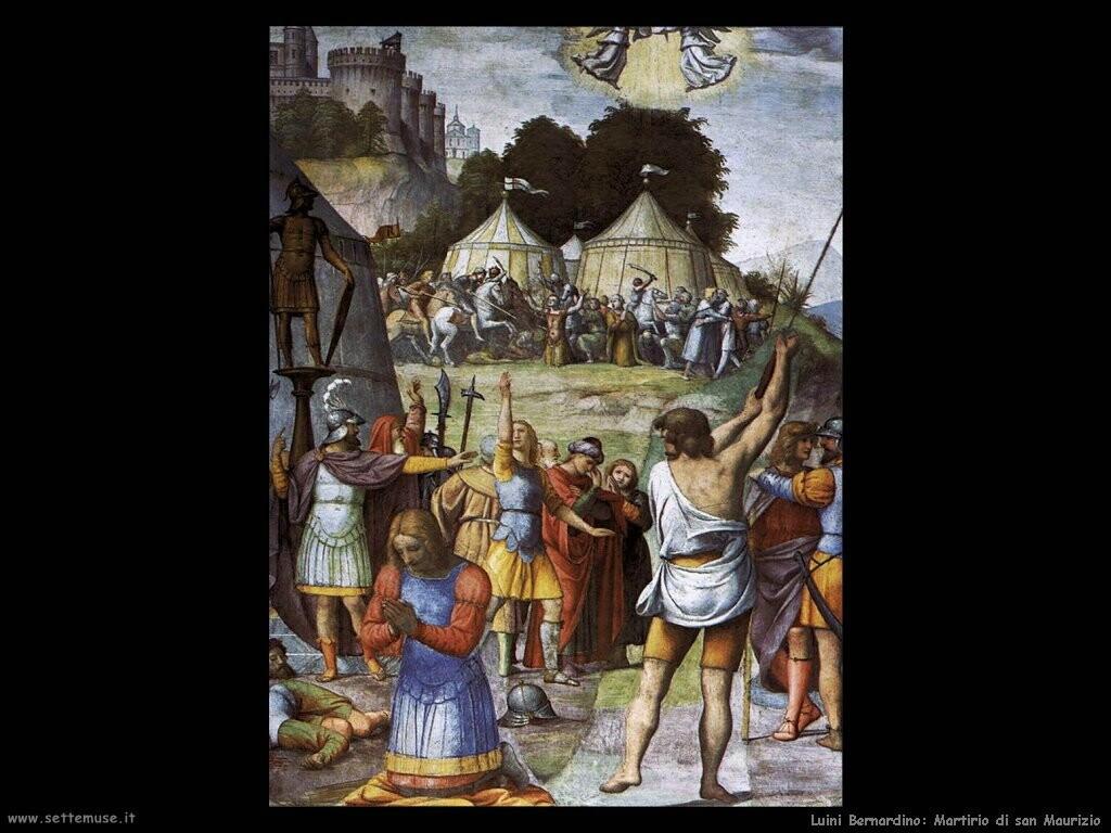 luini bernardino  Il martirio di san Maurizio
