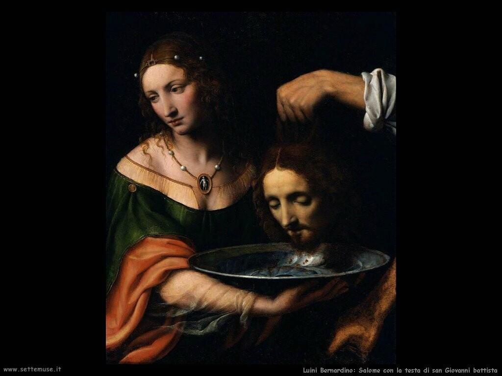 luini bernardino Salomè con la testa di san Giovanni battista
