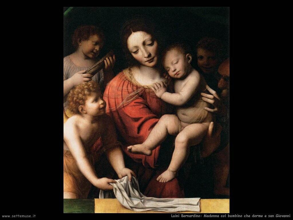luini bernardino La Vergine tiene il bambino addormentato