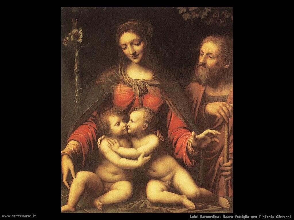 luini bernardino Sacra famiglia con l'infante Giovanni