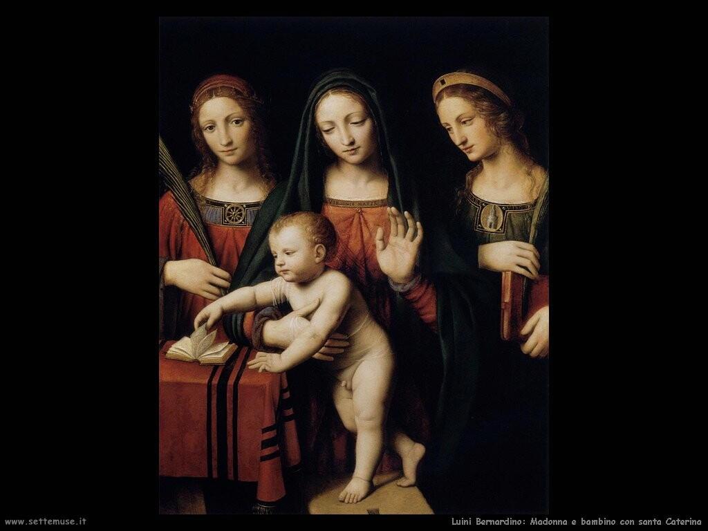 luini bernardino Madonna e bambino con santa Caterina