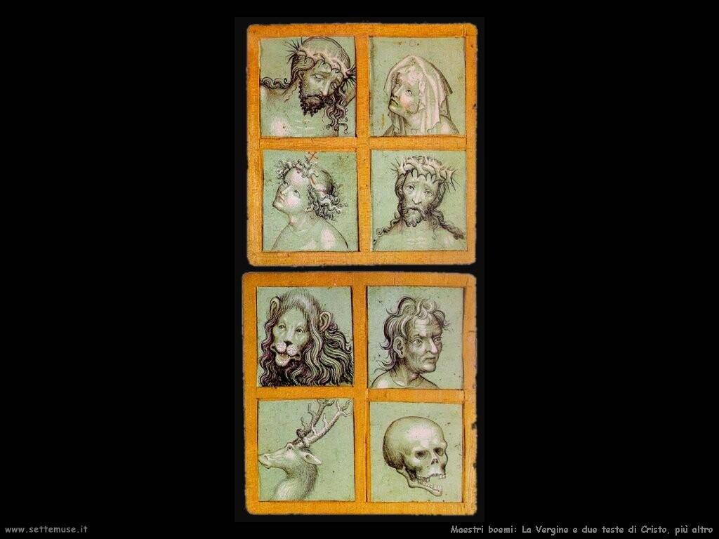 boemi Vergine e teste di Cristo