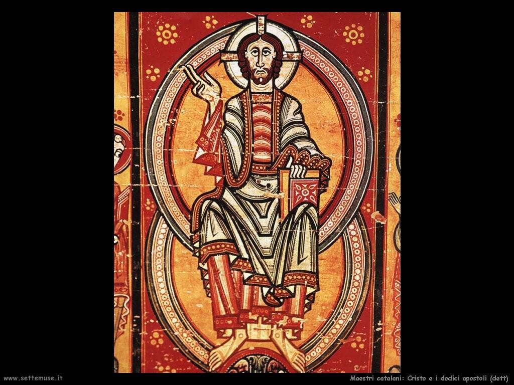 maestri sconosciuti catalani Cristo e i dodici apostoli (dett)