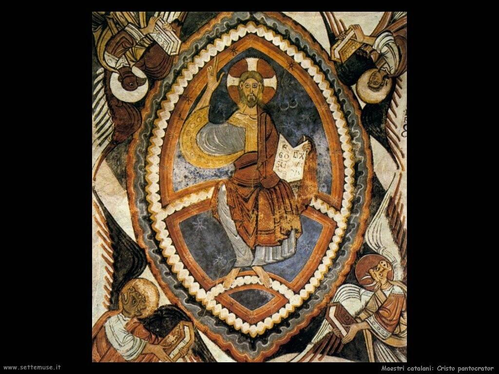 maestri sconosciuti catalani Cristo pantocratico