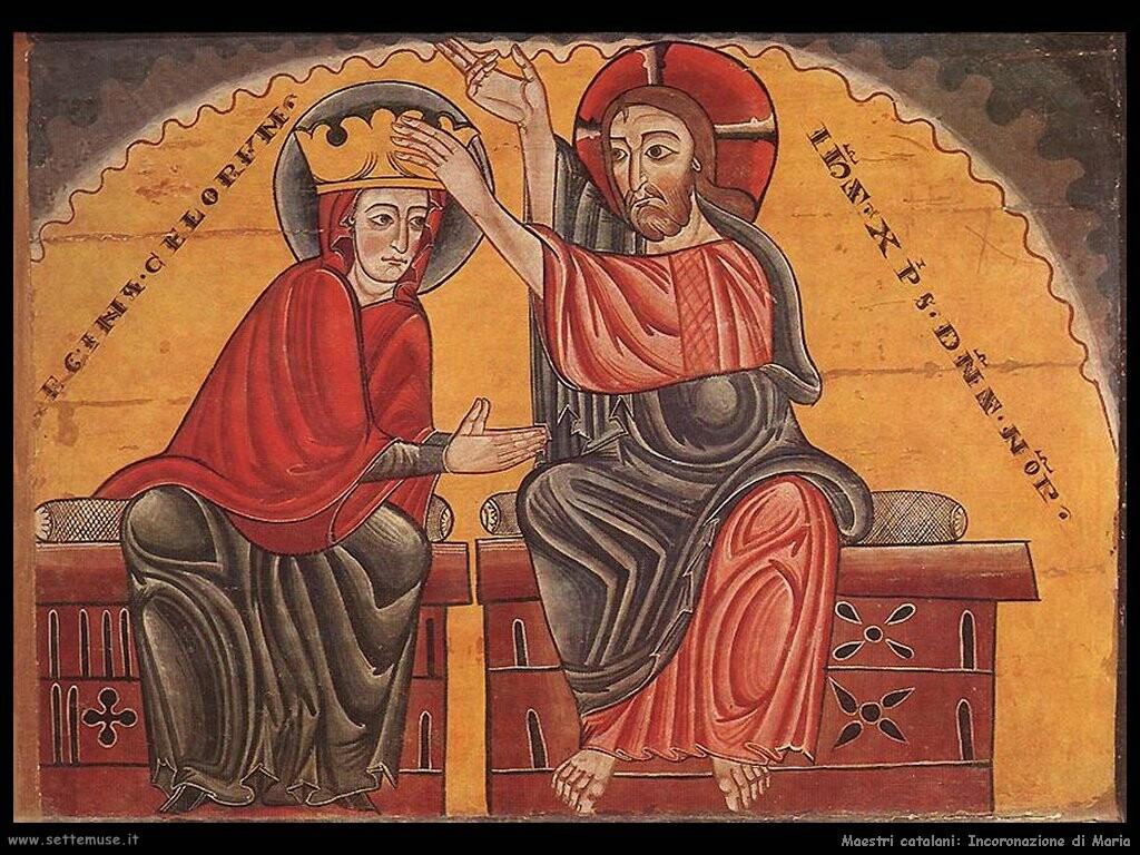 maestri sconosciuti catalani Incoronazione di Maria