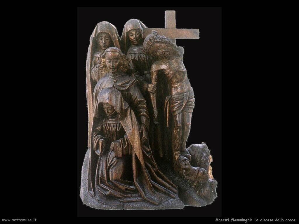 maestri sconosciuti fiamminghi Discesa dalla croce
