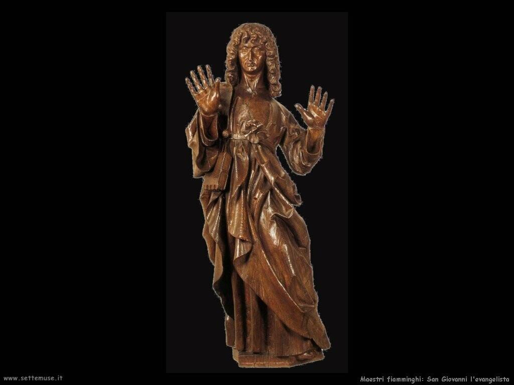 maestri sconosciuti fiamminghi San Giovanni evangelista