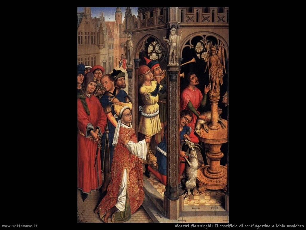 fiamminghi Sant'Agostino e il sacrificio all'idolo Manicheo