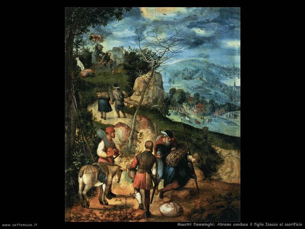 fiamminghi Abramo conduce il figlio Isacco al sacrificio