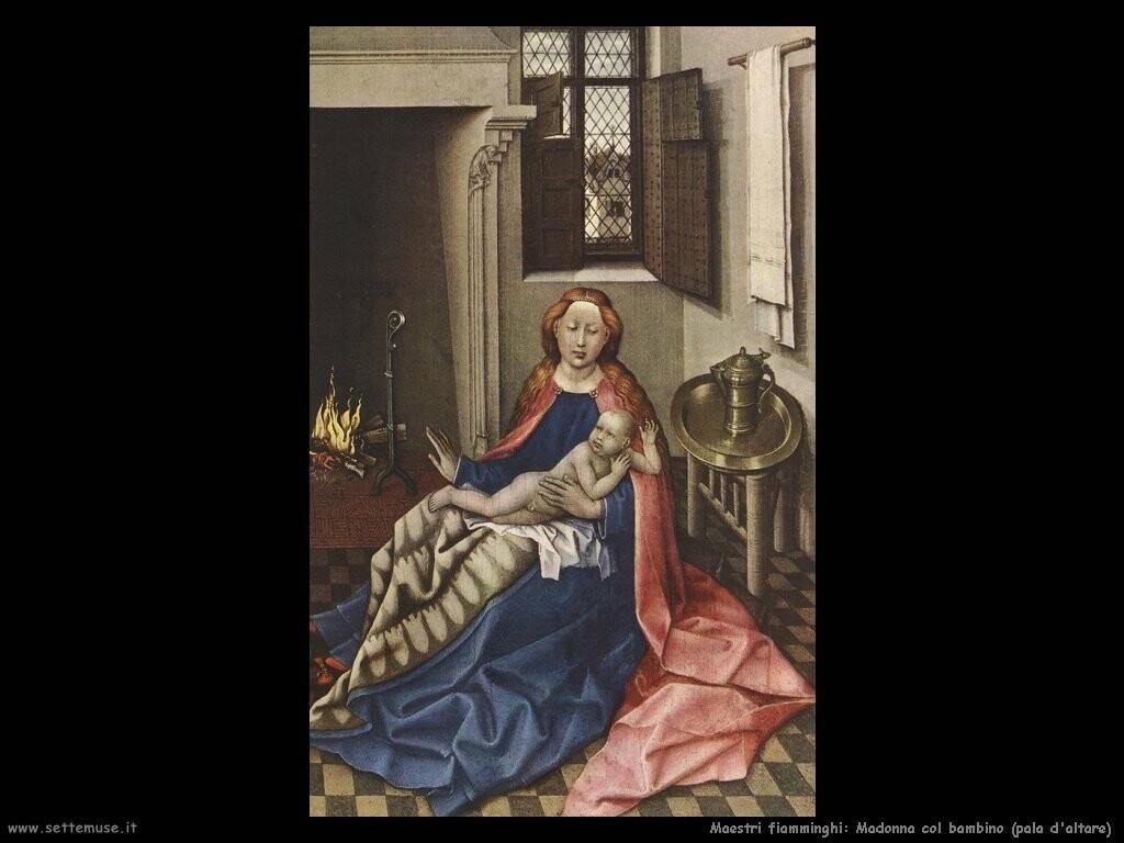 fiamminghi Madonna con bambino (pala d'altare)