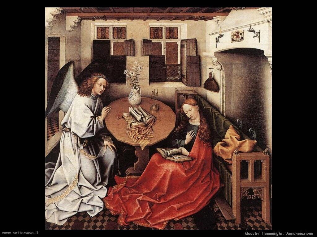 fiamminghi Annunciazione