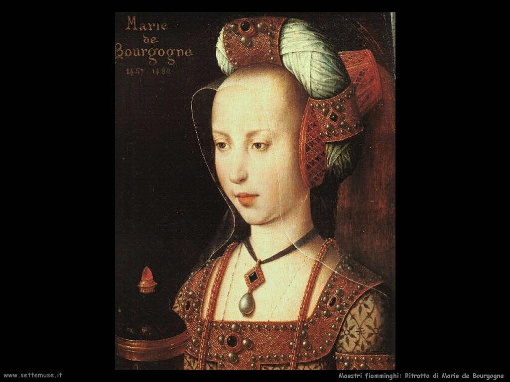 fiamminghi_Ritratto di Maria di Burgundy