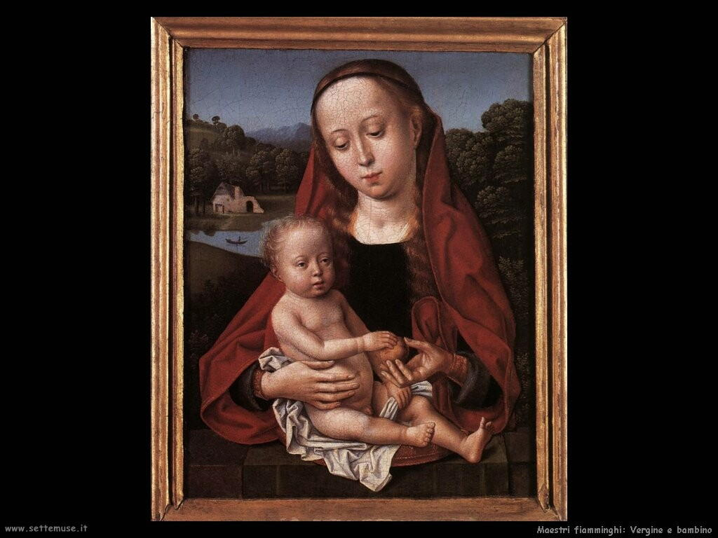 fiamminghi Vergine con bambino