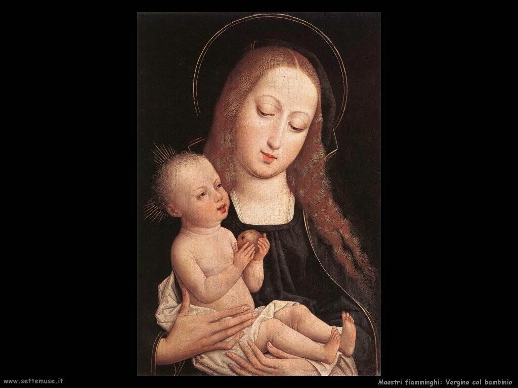 fiamminghi_Vergine con bambino