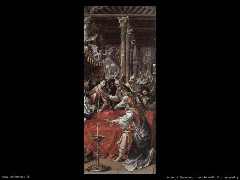 fiamminghi Morte della Vergine