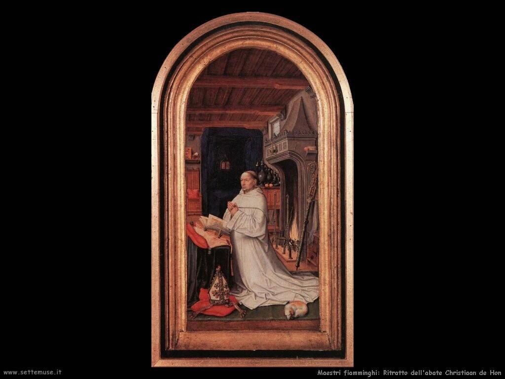 fiamminghi Ritratto dell'abate Christiaan de Hon