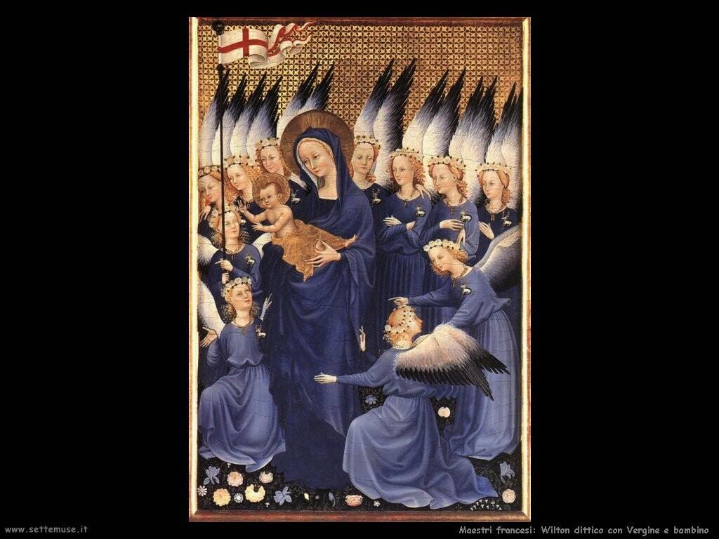 maestri sconosciuti francesi Dittico Wilton, Vergine con bambino