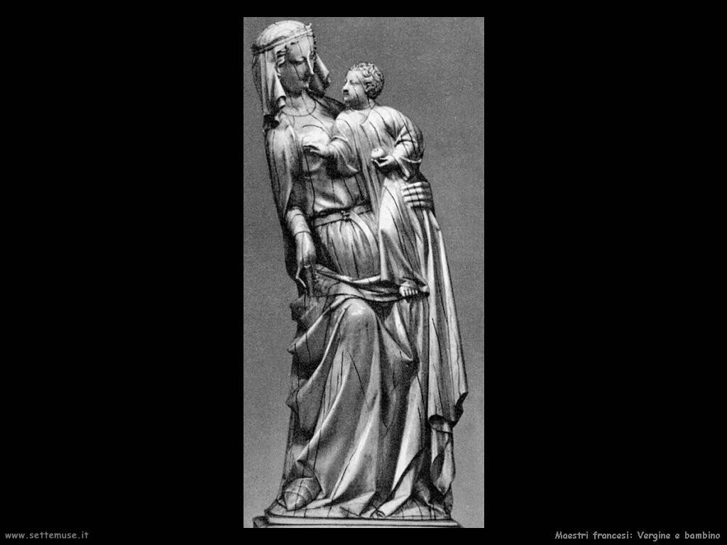 francesi Vergine con bambino