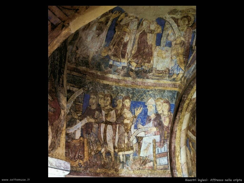 maestri sconosciuti inglesi Affresco nella cripta