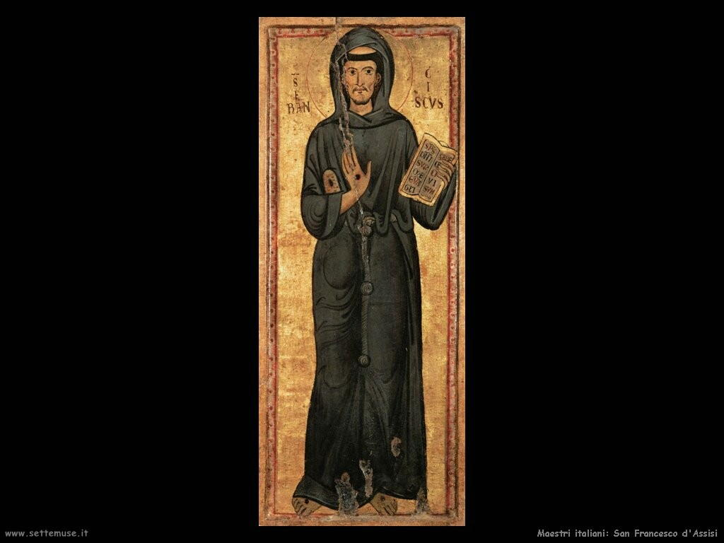 maestri sconosciuti italiani San Francesco d'Assisi