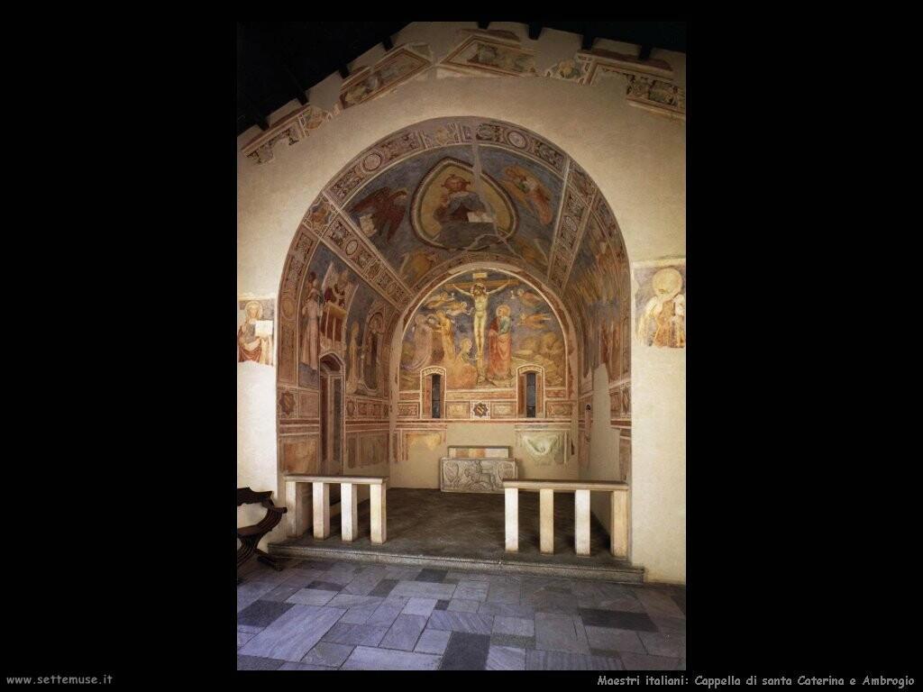 maestri sconosciuti italiani Cappella di santa Caterina e Ambrogio