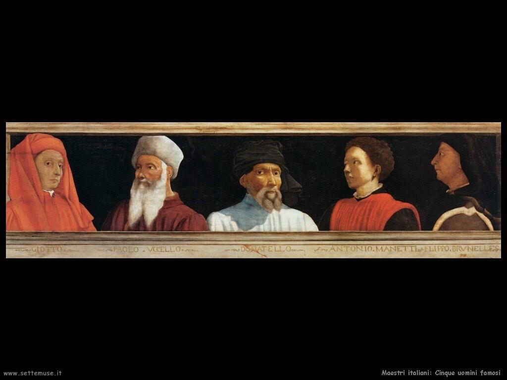 italiani Cinque uomini famosi
