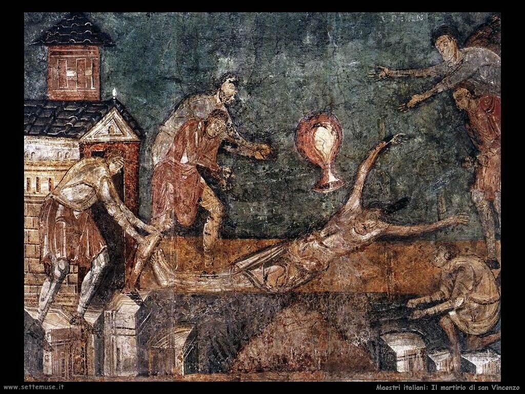 italiani Martirio di san Vincenzo