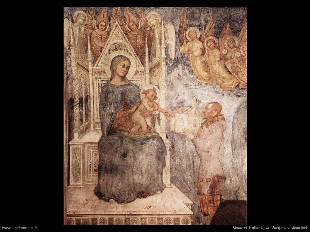 italiani La Vergine e il donatore
