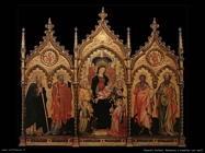 italiani Madonna con bambino in trono