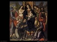 italiani Vergine con bambino e quattro santi