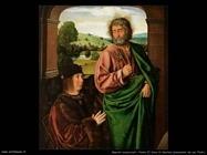 maestri sconosciuti Pierre II duca di Bourbon presentato da san Pietro