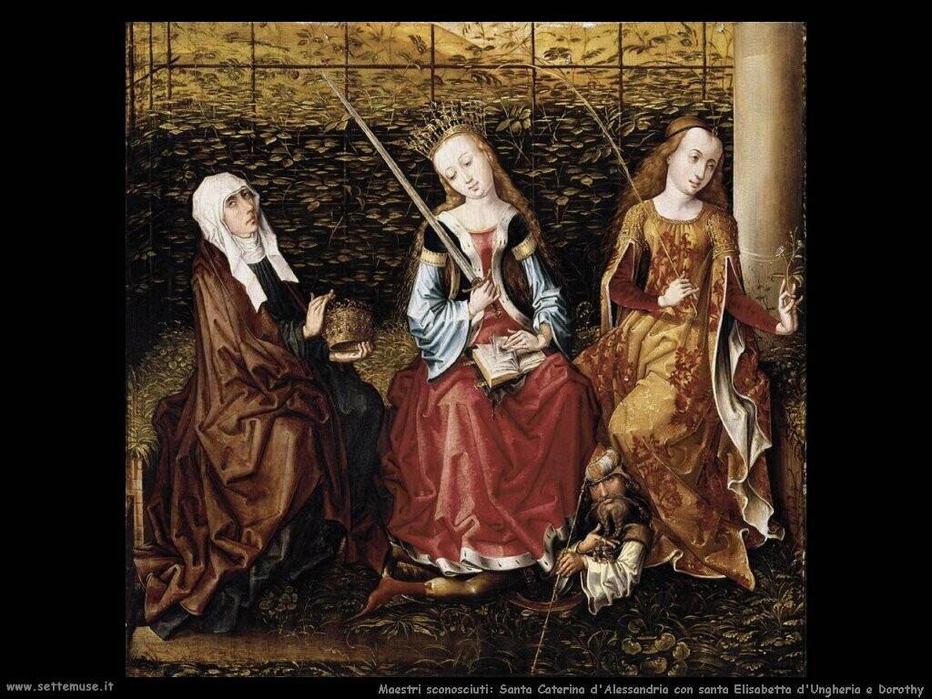 maestri sconosciuti Santa Caterina d'Alessandria con santa Elisabetta