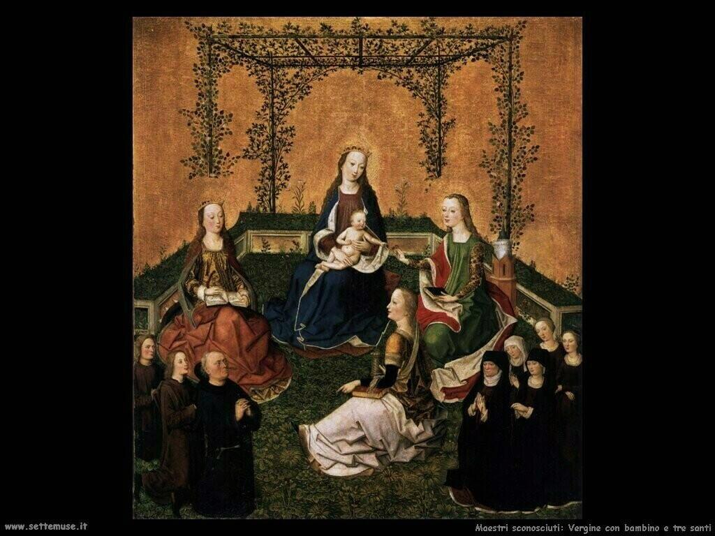 maestri sconosciuti Vergine con bambino e tre santi