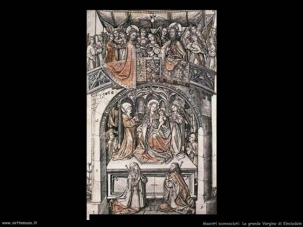maestri sconosciuti La grande Vergine di Einsiedeln