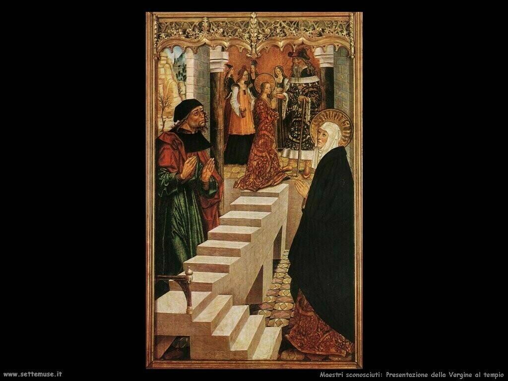 maestri sconosciuti Presentazione della Vergine al tempio