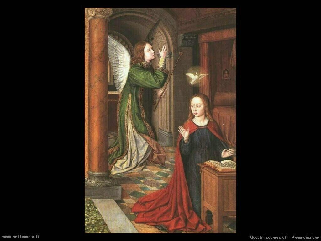 maestri sconosciuti Annunciazione