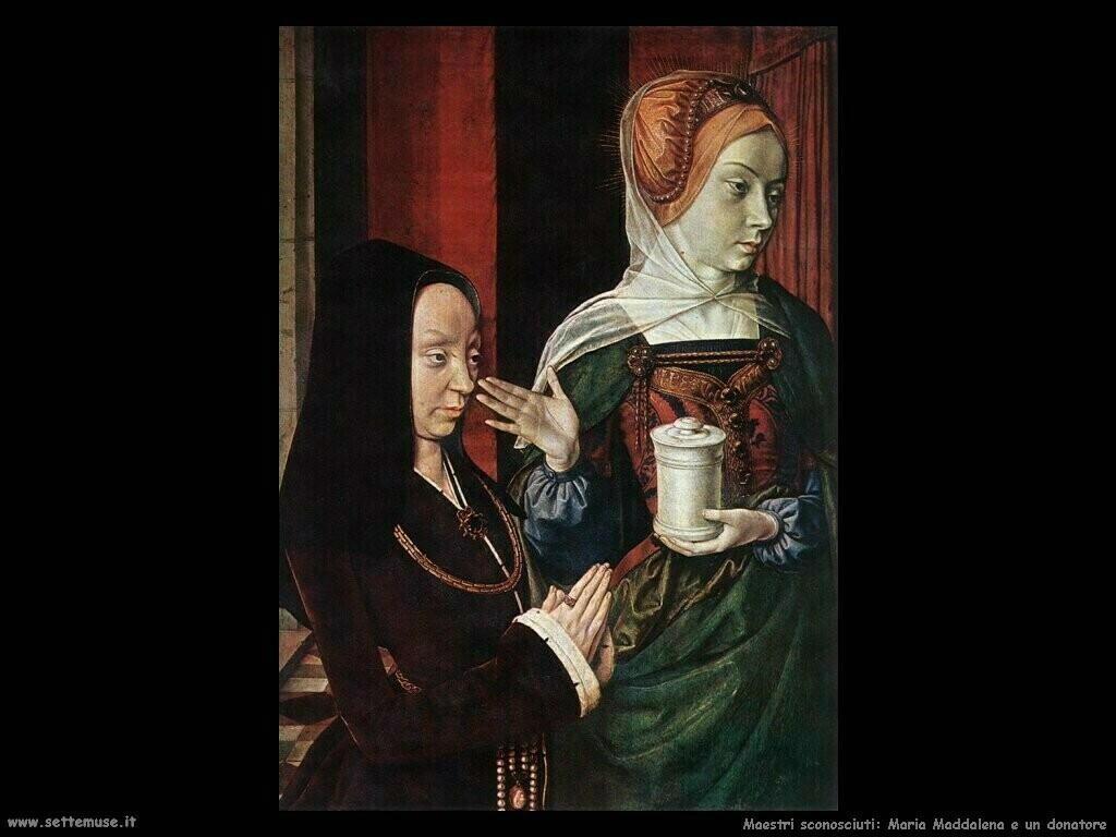 maestri sconosciuti Maria Maddalena e un donatore
