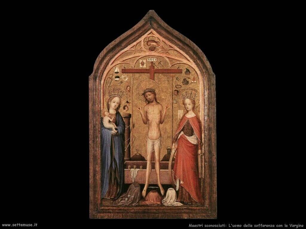maestri sconosciuti L'uomo del dolore con la Vergine